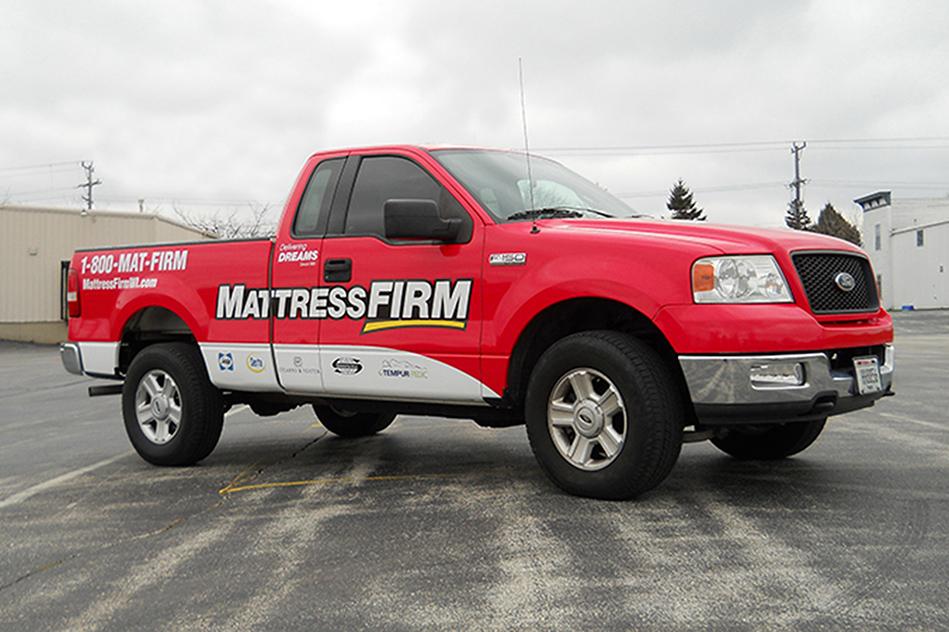 mattress firm vehicle wrap